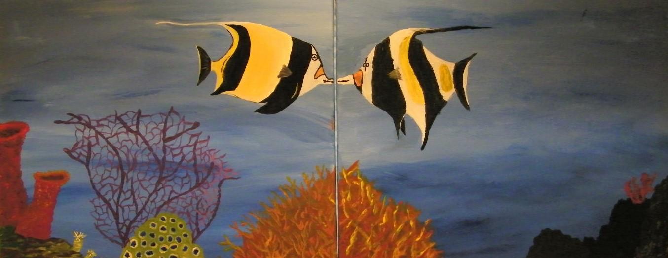 Goingout com paint the town studios llc event angel fish couple paint night