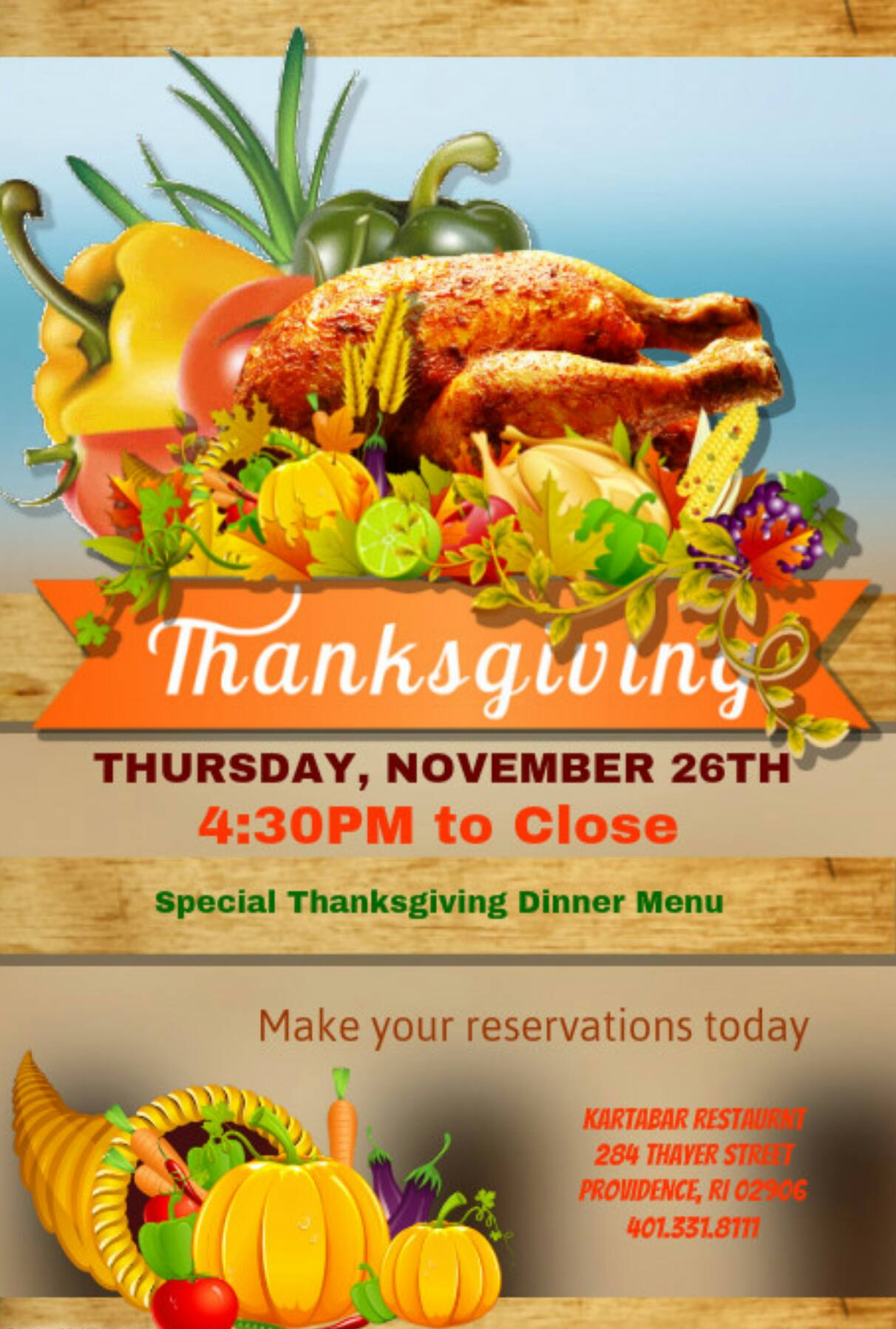 What Restaurant Is Open On Thanksgiving Ri