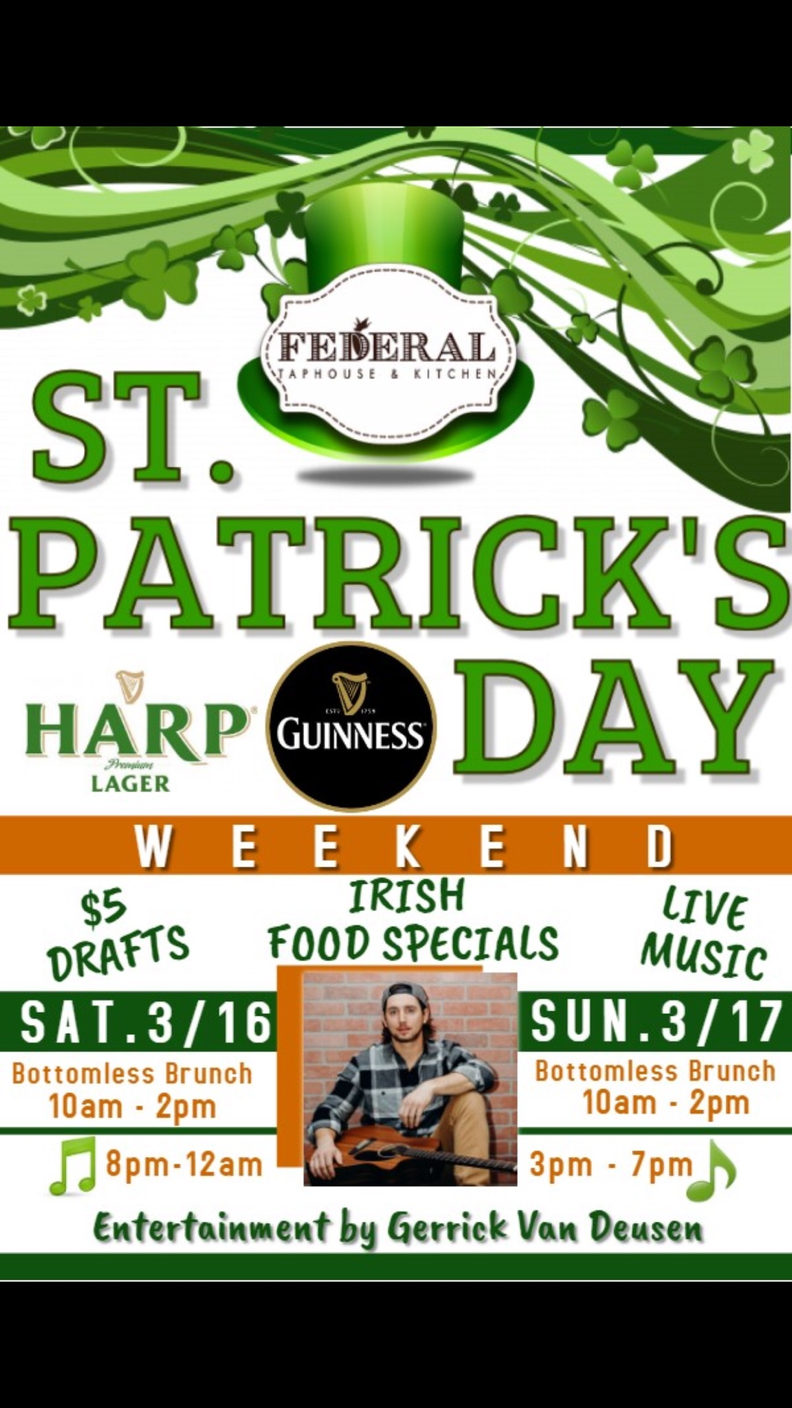Goingout Com Federal Taphouse Kitchen Event St Patricks