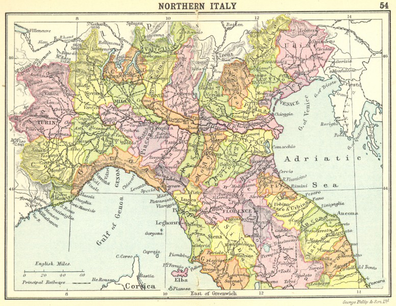Free Professional Resume » map of italy east coast | Professional Resume
