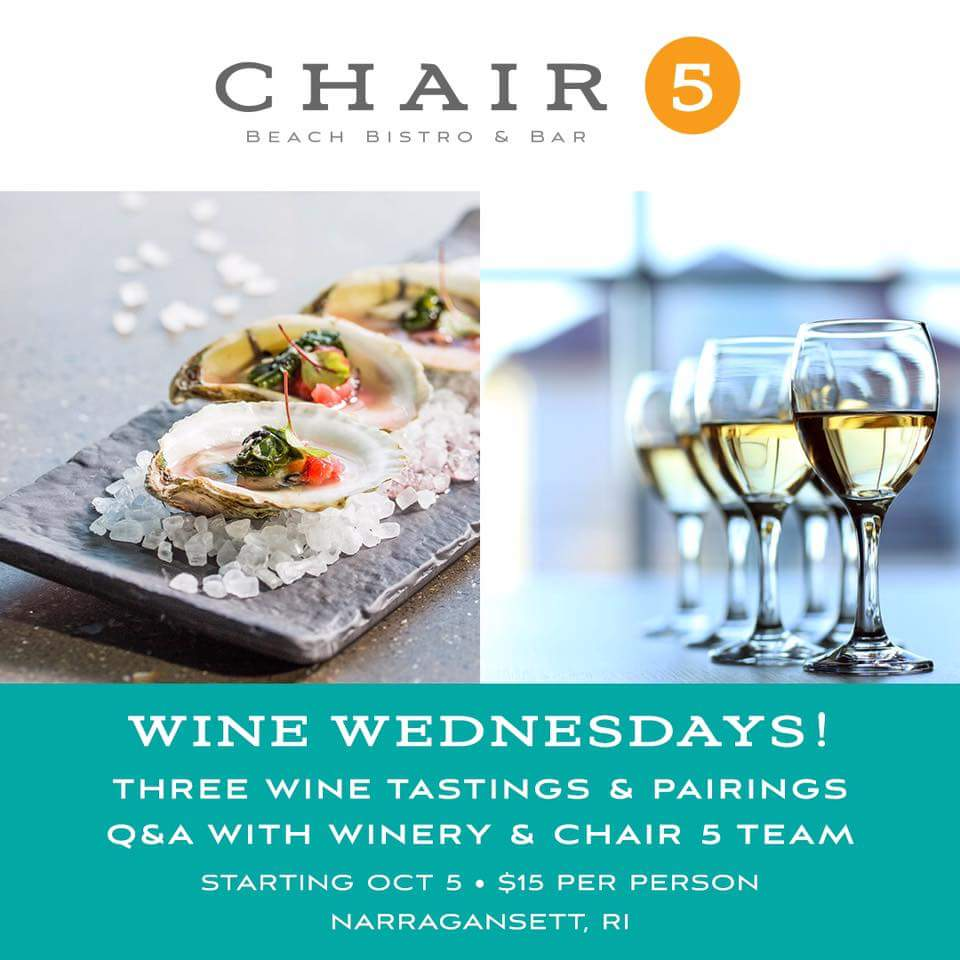 GoingOut.com: Chair 5: Beach Bistro & Bar Event, Wine Wednesday